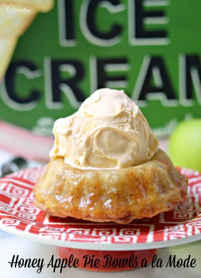 honey apple pie bowls