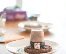 ice cream cake pilgrim hat