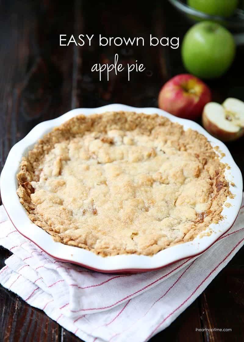 Easy brown bag apple pie