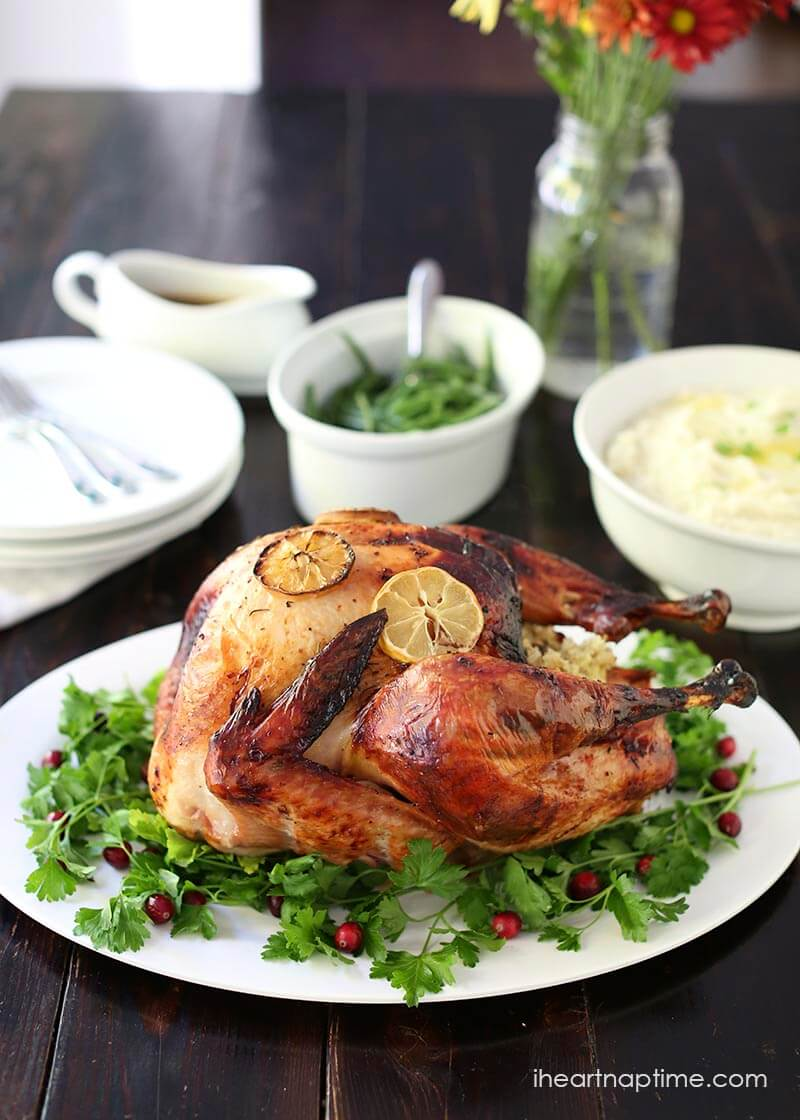 How to brine a turkey -the easy way! A simple Thanksgiving dinner for beginners.