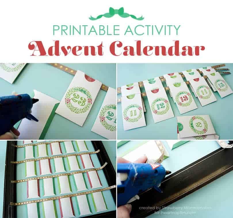 Printable Activity Advent Calendar by Strawberry Mommycakes on iheartnaptime.com