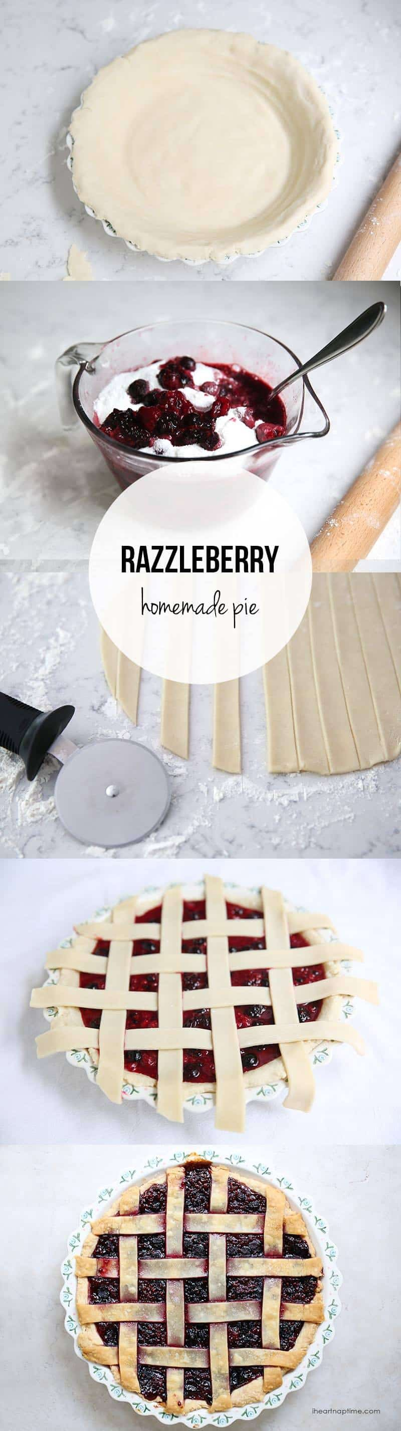 how to make homemade razzleberry pie