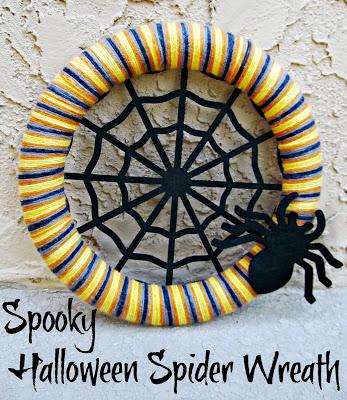 Spooky Halloween Spider Wreath