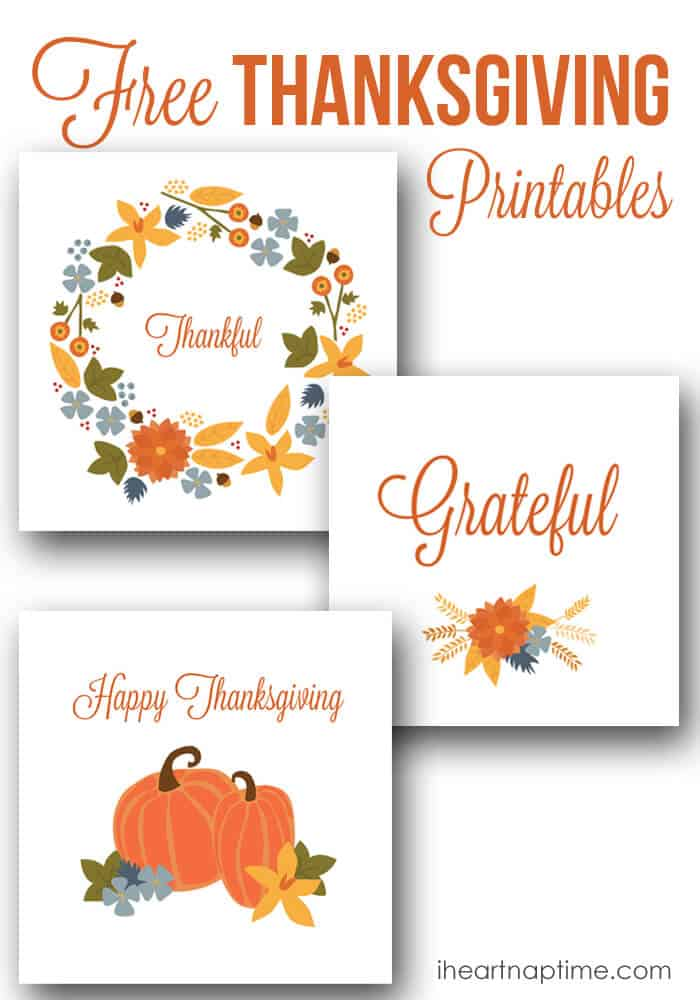 Free Thanksgiving printable designs