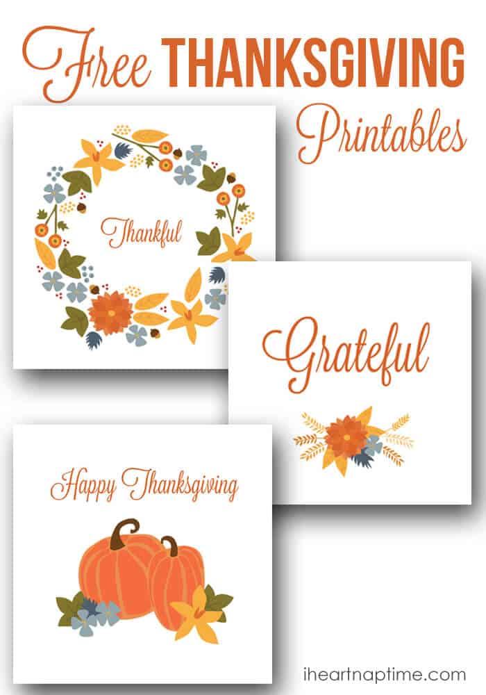 Free Thanksgiving printable designs