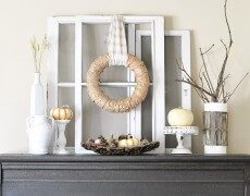 White-Rustic-Fall-Mantel-Decor