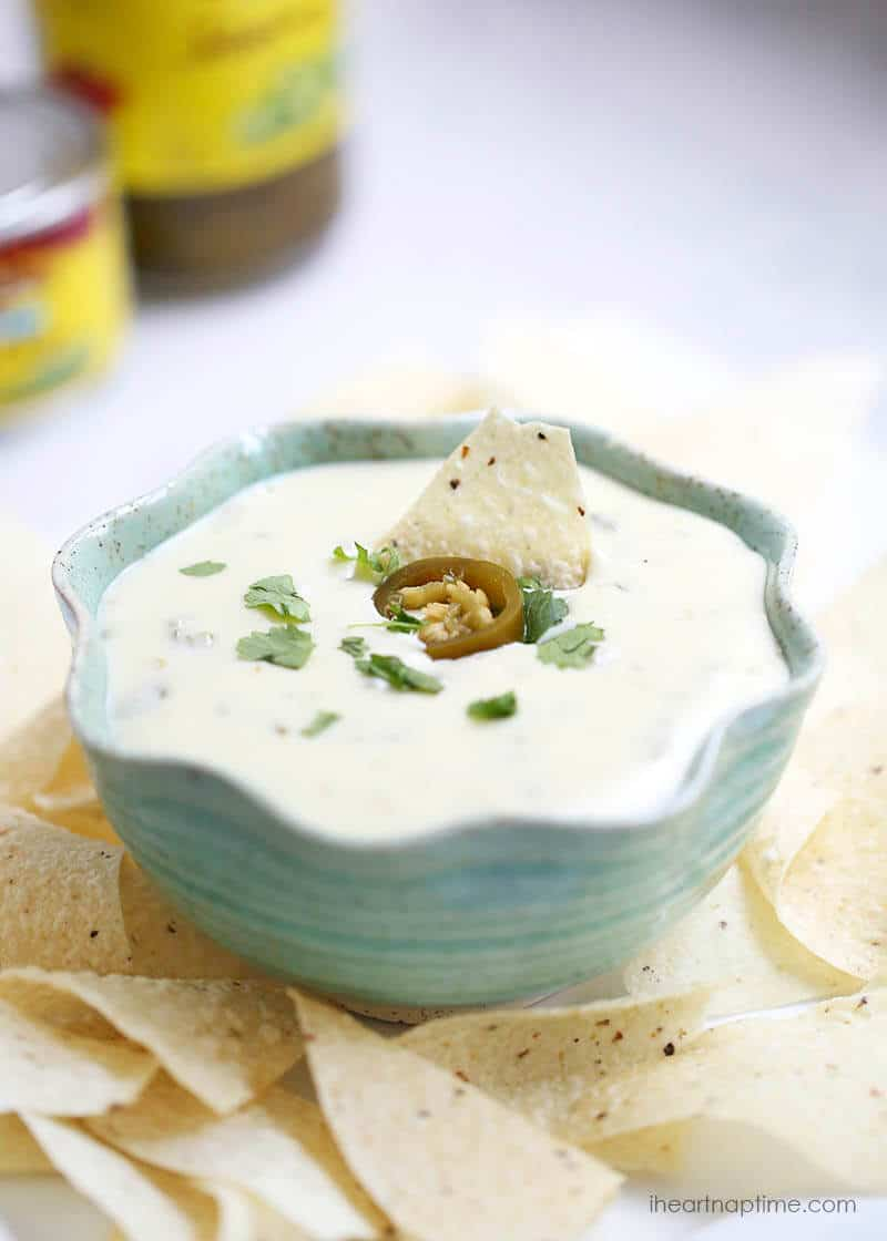 5 ingredient white queso dip