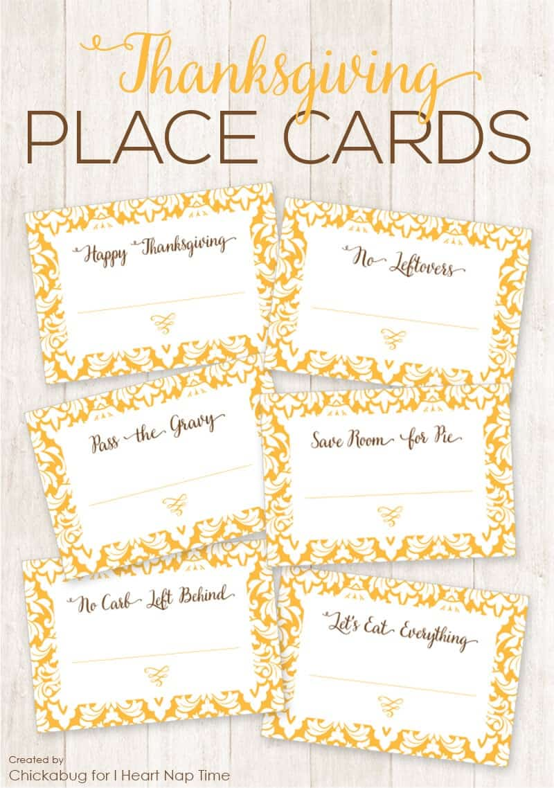 Exceptional image with regard to printable thanksgiving place cards