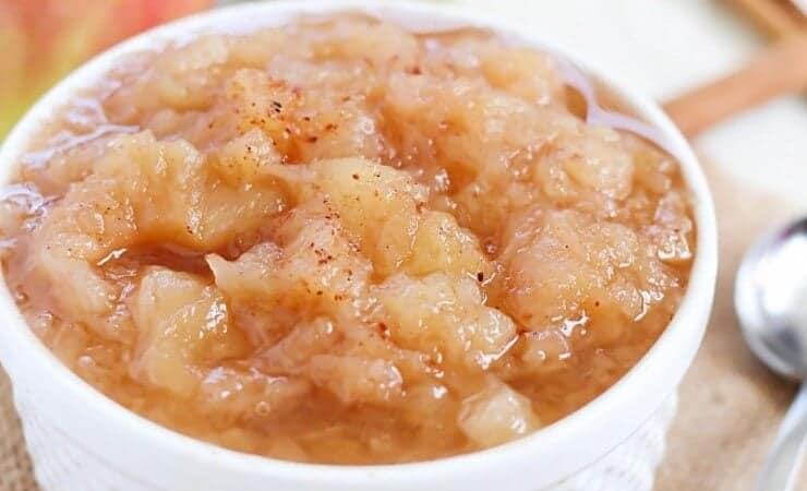 Delicious homemade applesauce, made right in the crock pot!