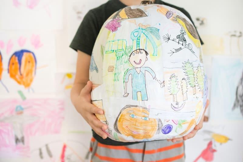 kid art pumpkin