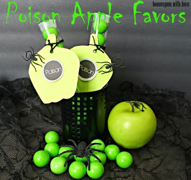 poison apple favors
