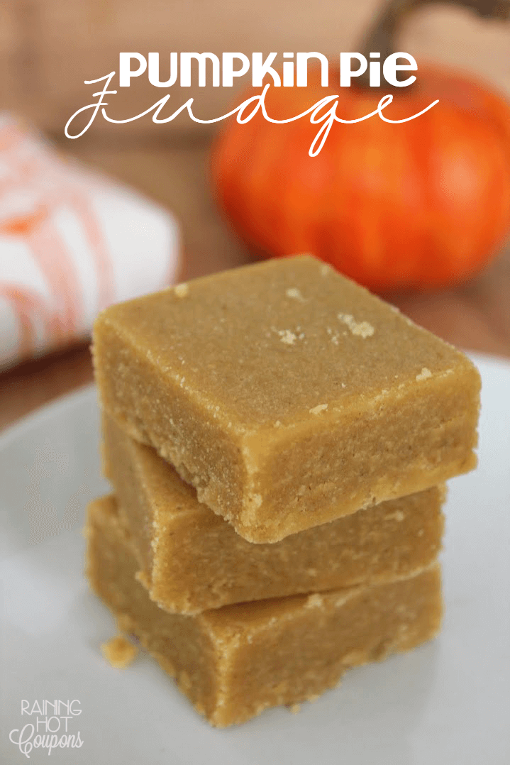 Pumpkin Pie Fudge from Raining Hot Coupons