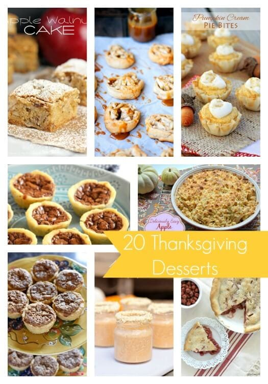 20 Thanksgiving Dessert Ideas