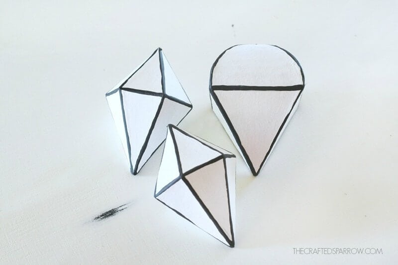 Black and White Geometric Ornaments by The Crafted Sparrow on iheartnaptime.com