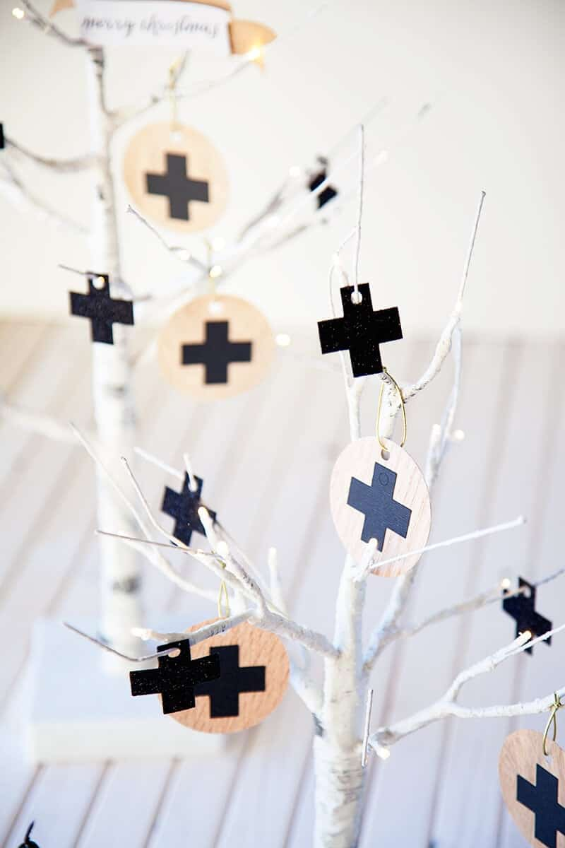 DIY swiss wooden ornaments