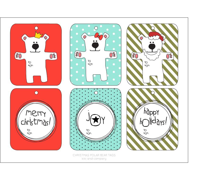 Christmas Tags Free Printable by Kiki and Company on iheartnaptime.com