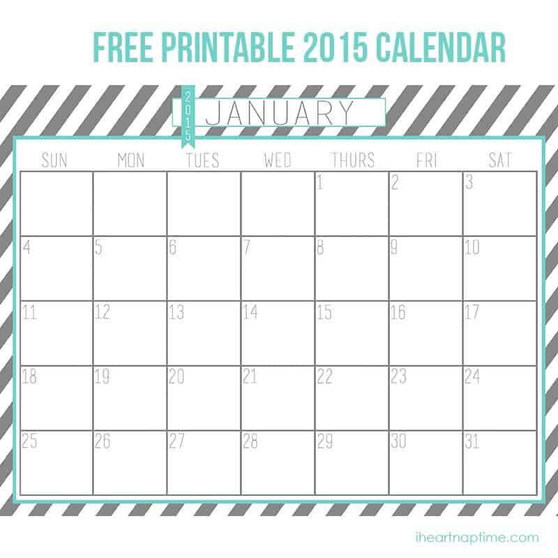 Calendar 2015 Free To Print - Twenty.Hueandi.Co