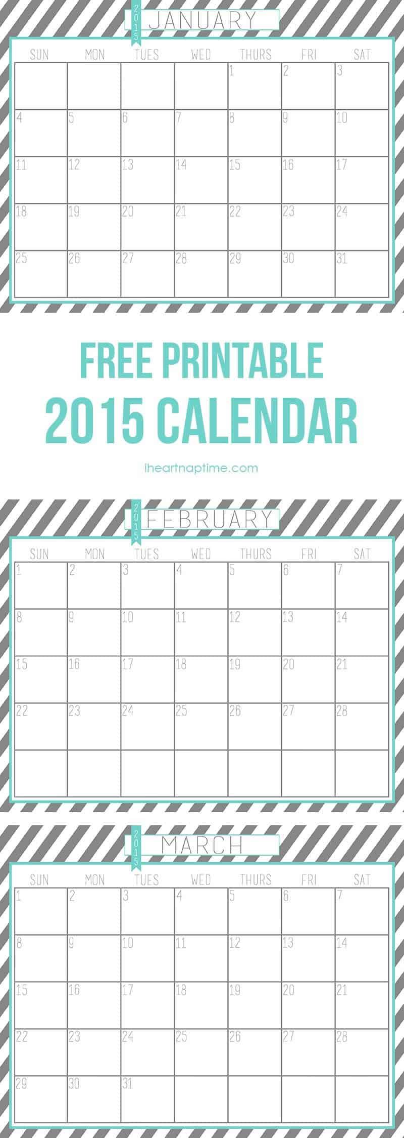 printable 2015 calendar by month - Winkd.co