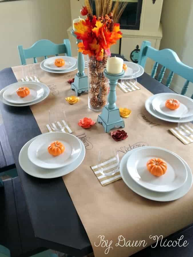 table  Heart Nap Thanksgiving runner 20 Party ideas Ideas   paper Features} I Time {Link
