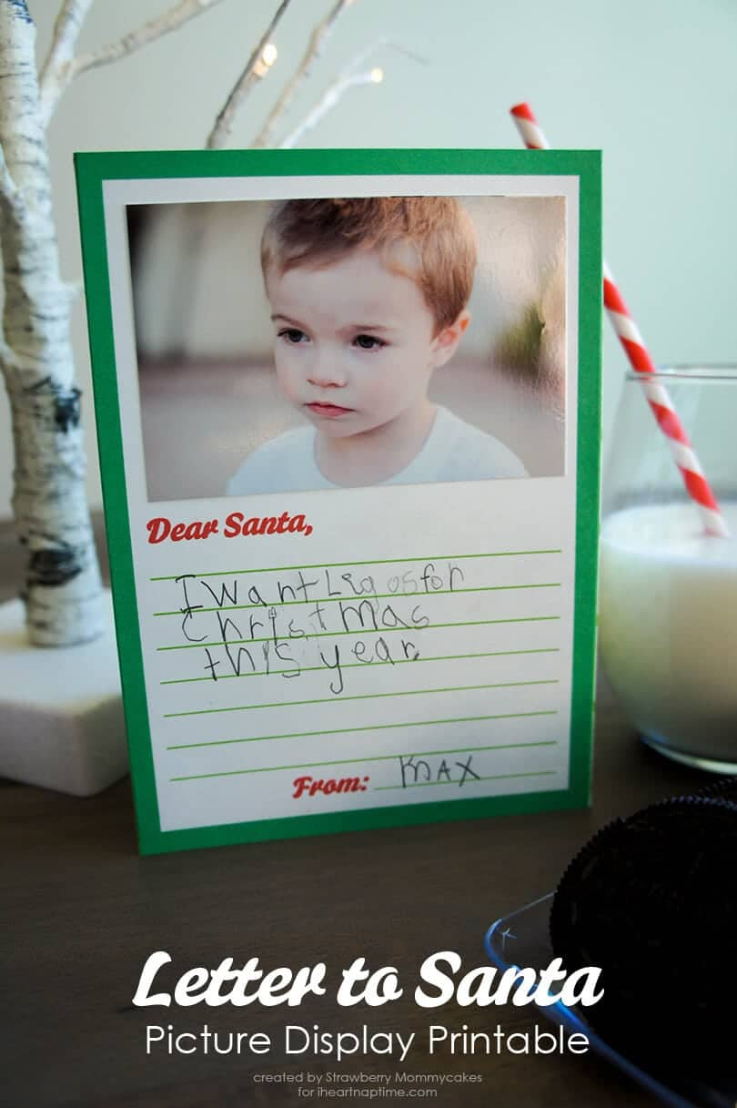 Letter To Santa Picture Display Printable  I Heart Nap Time