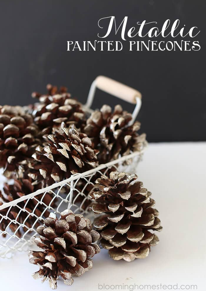Metallic-Painted-Pinecones-DIY