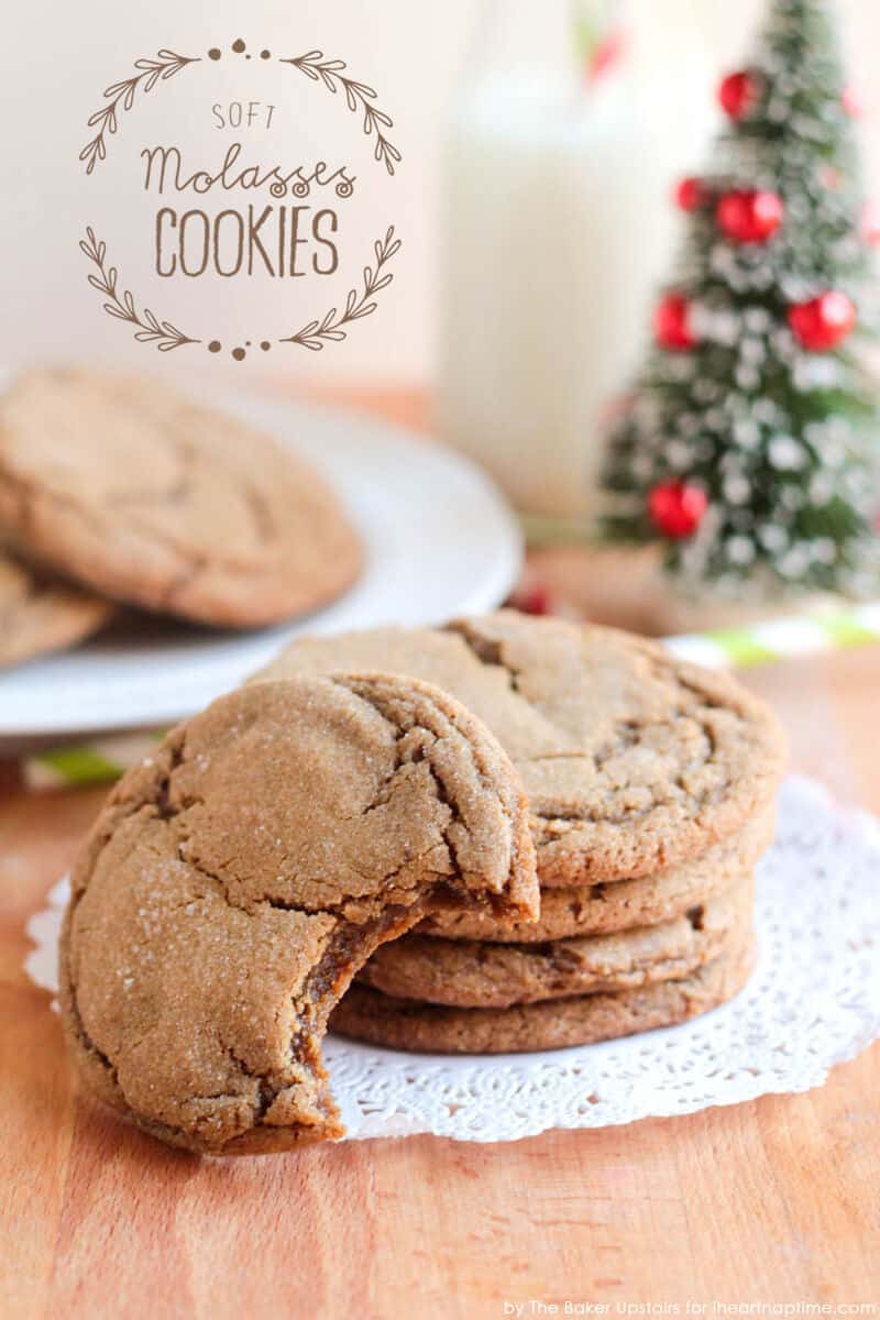 Soft Molasses Cookies by The Baker Upstairs for iheartnaptime.com