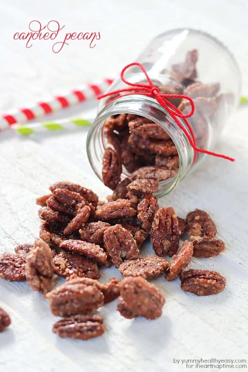Delicious candied pecans make a great snack and the perfect Christmas gift!