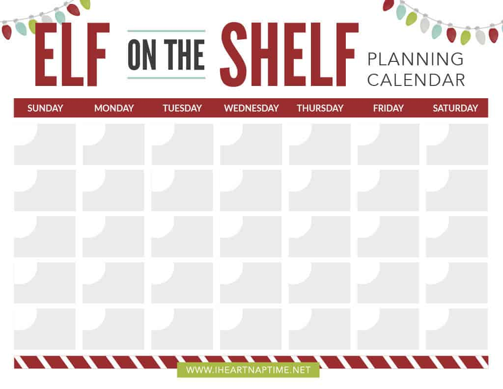 graphic about Elf on the Shelf Printable titled No cost printable Elf upon the Shelf calendar and list - I