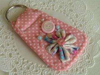 DIY fabric key rings