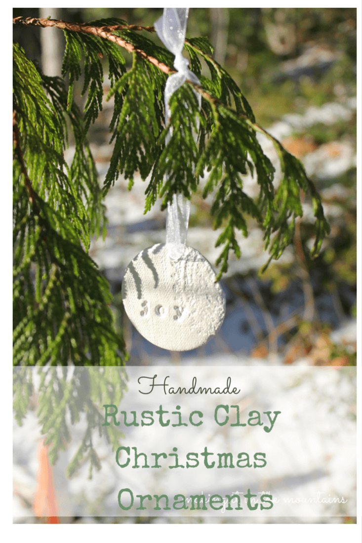 handmade rustic clay ornament