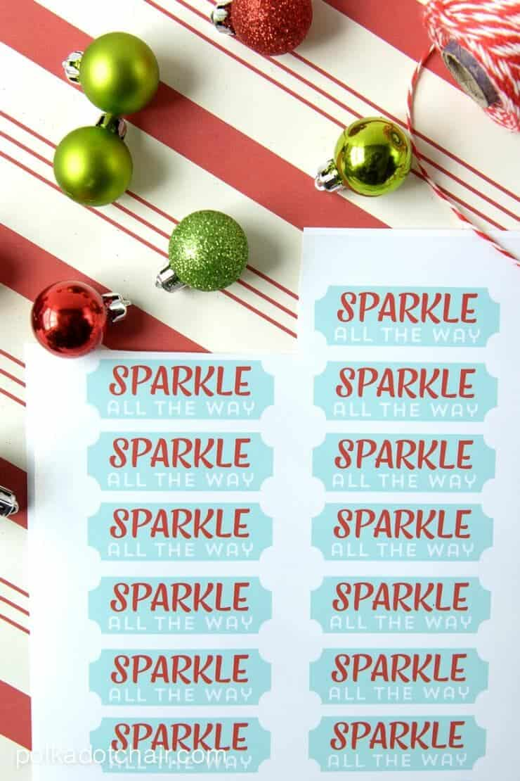 Printable Nail Polish Gift Tags by Polka Dot Chair Blog on iheartnaptime.com