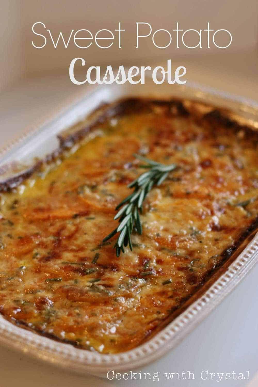 Mashed Sweet Potato Casserole Recipe