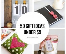 50 homemade gift ideas under $5