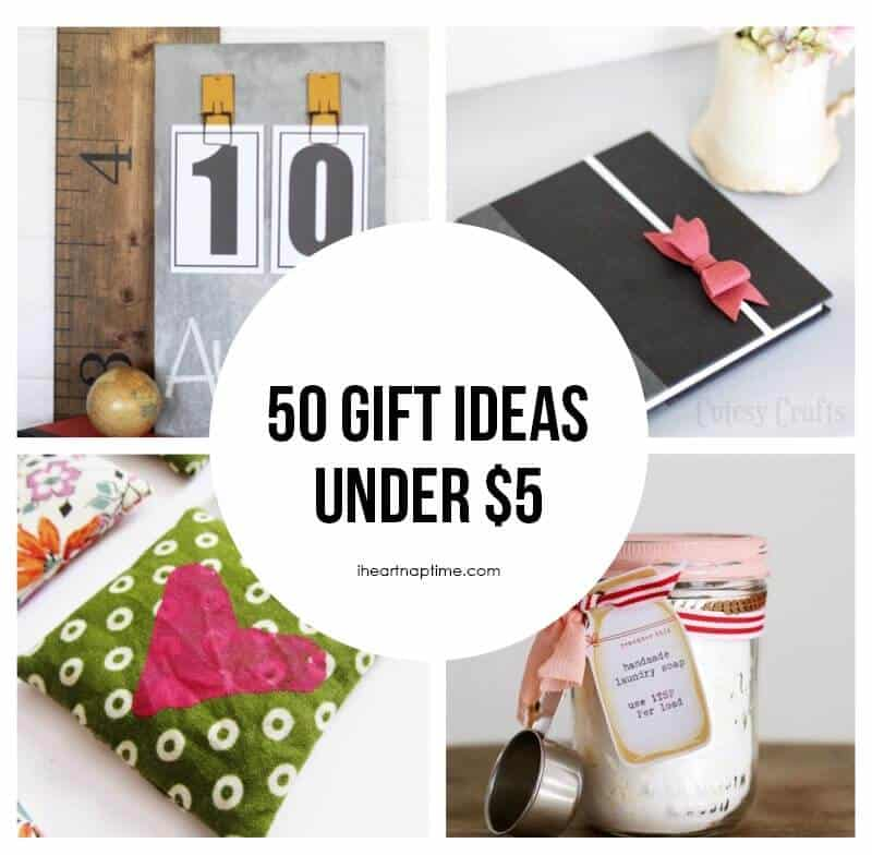 50 homemade gift ideas to make for under 5 featured on iheartnaptimecom - Christmas Gifts Under 5 Dollars