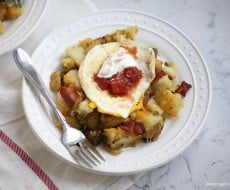 Cheese and bacon breakfast potatoes