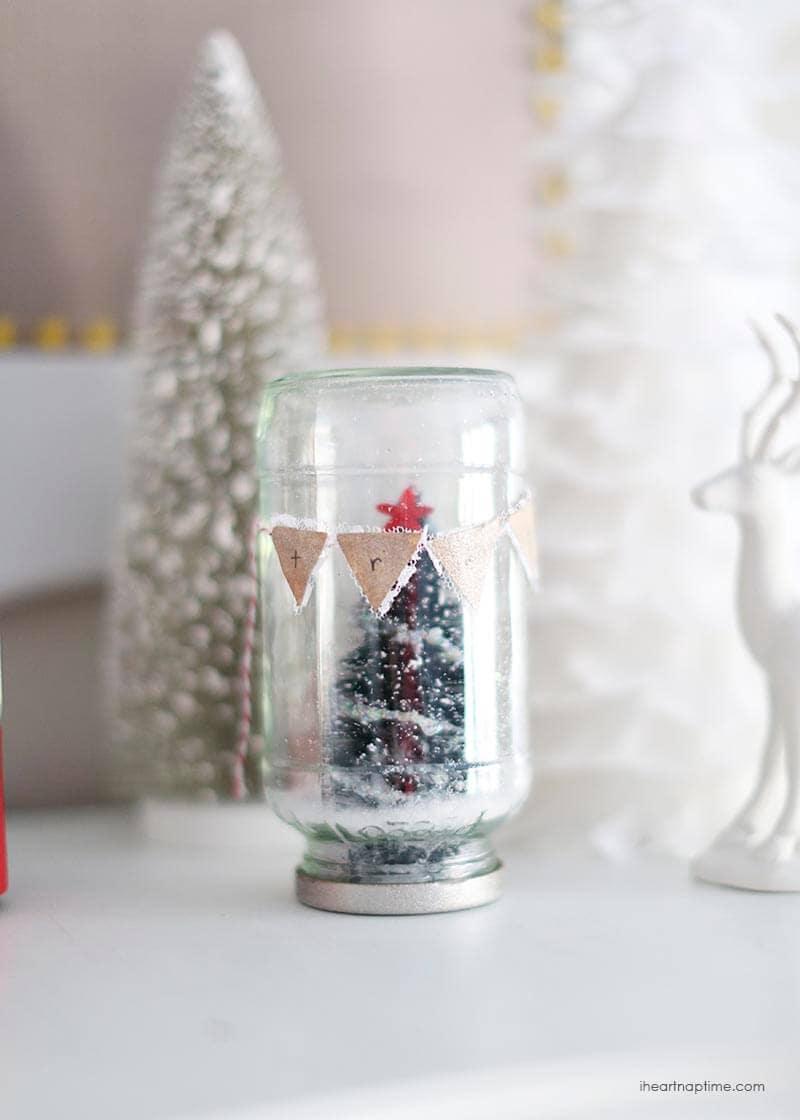 Christmas tree in a jar