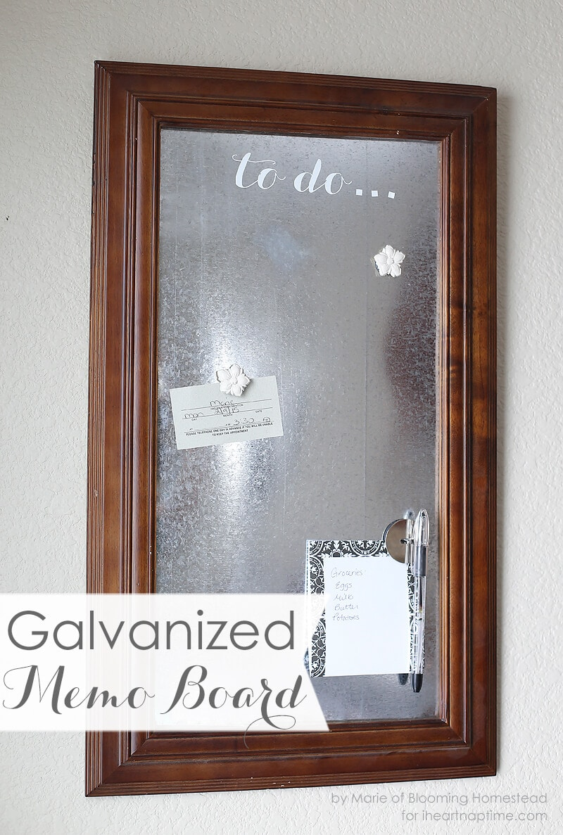 DIY Galvanized Memo Board