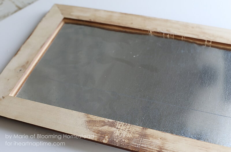 DIY Galvanized Memo Board on iheartnaptime.com