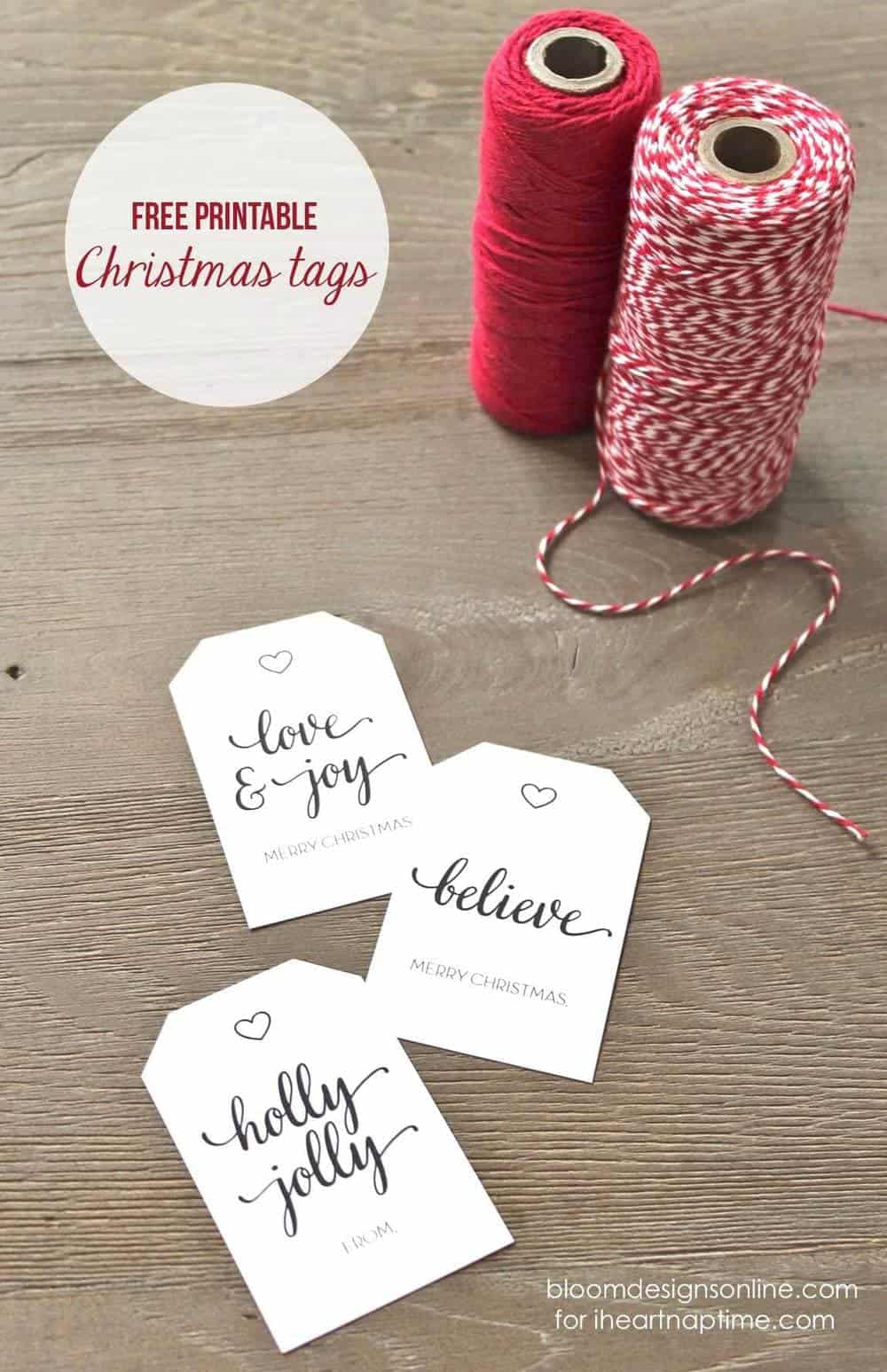 Persnickety image in christmas tags printable