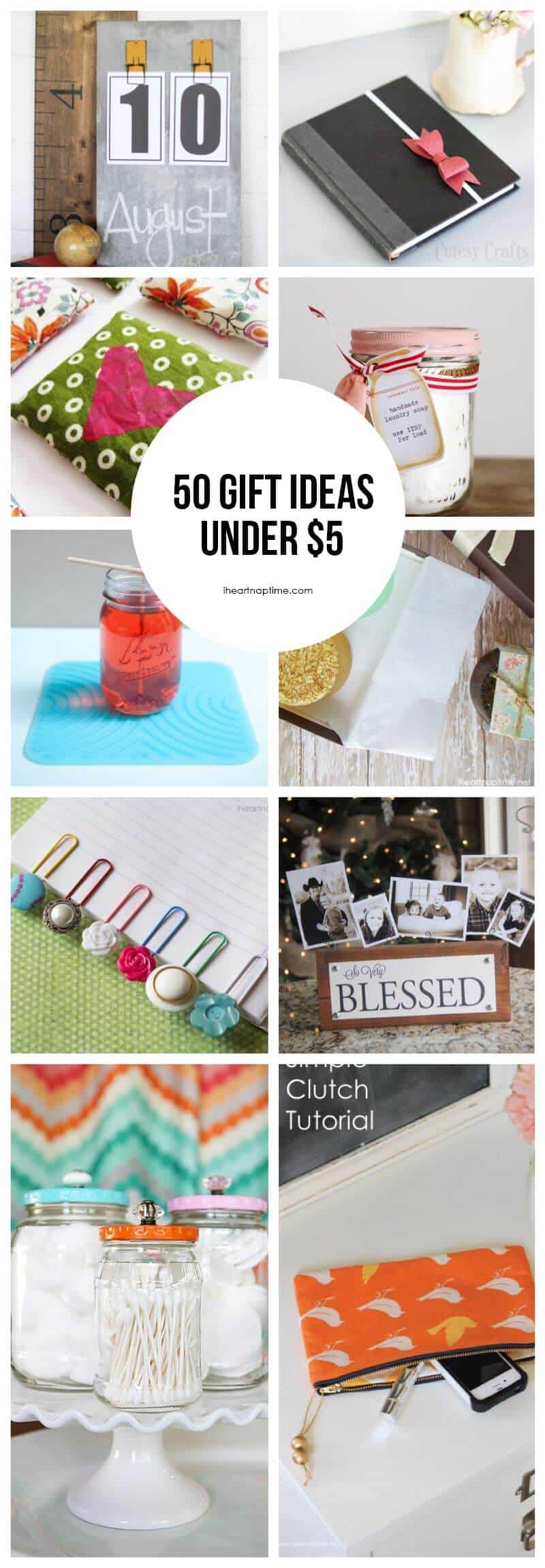 50 homemade gift ideas to make for under 5 i heart nap time for Diy gift ideas for women