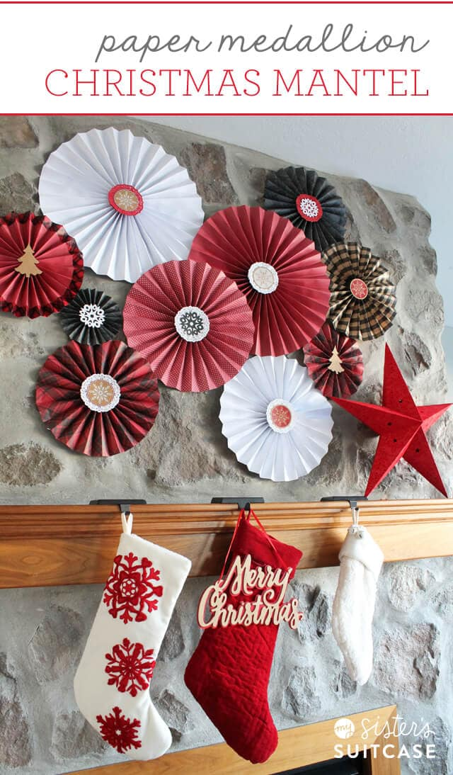 Paper-medallion-Merry-Christmas-mantel