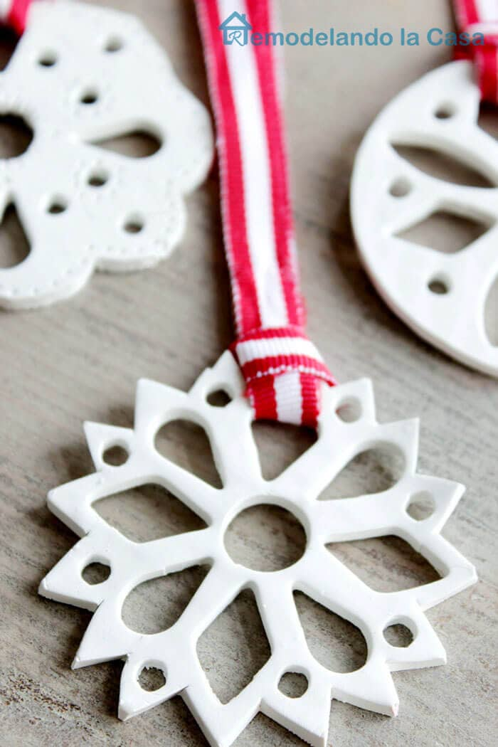 Polymer Clay Snowflake Ornament2