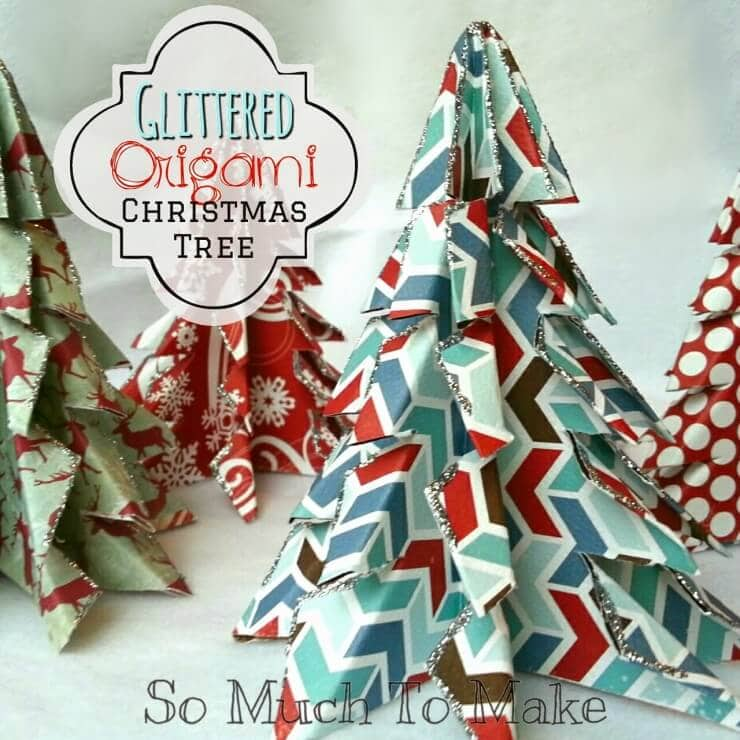 oragami christmas trees