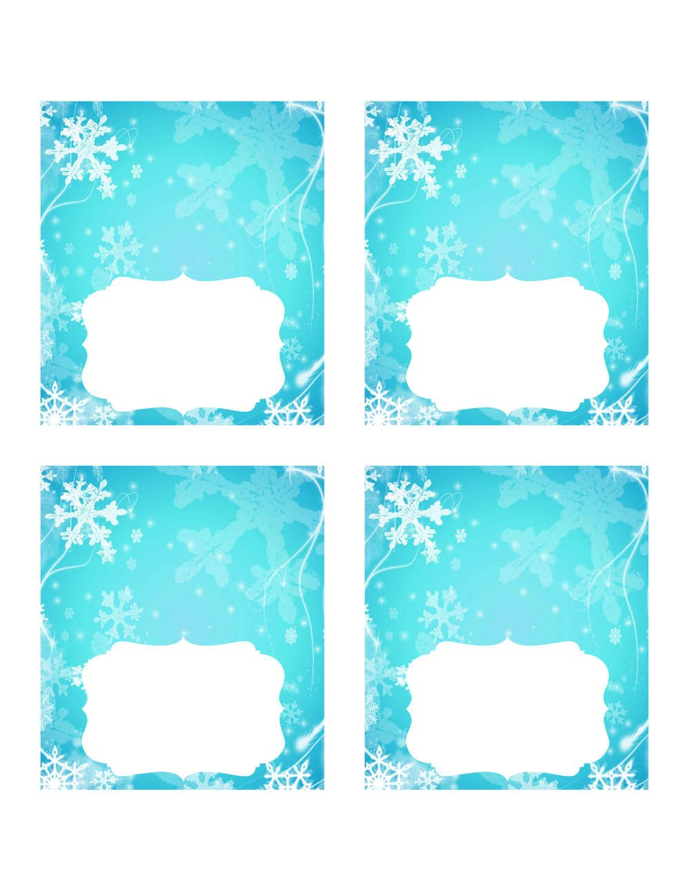 Free Printable Frozen Food Tent Cards