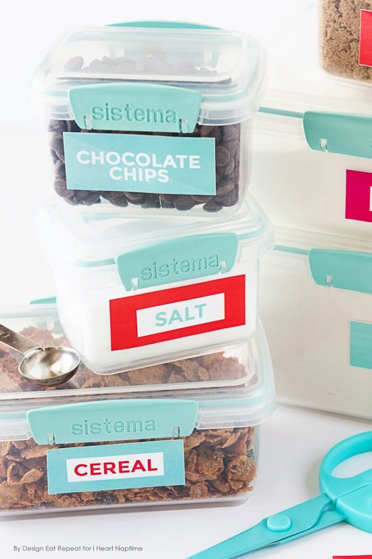 Free Printable Pantry Organization Labels by Design Eat Repeat for I Heart Naptime 3