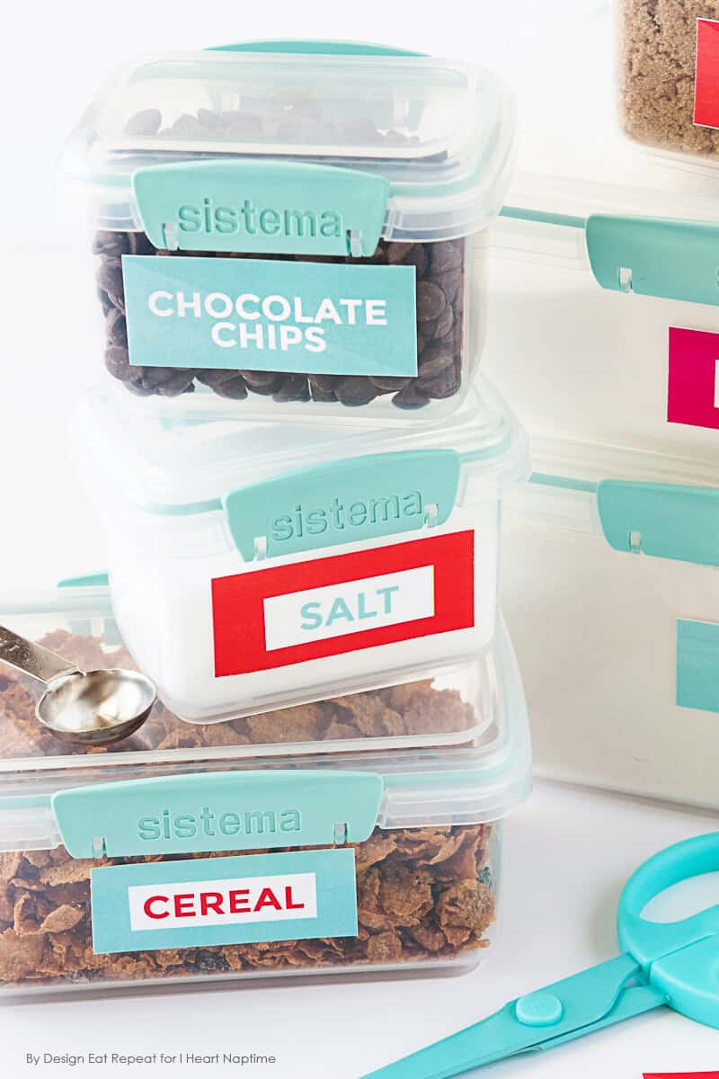 Free Printable Pantry Organization Labels on iheartnaptime.com