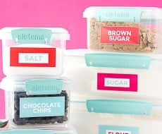 Free Printable Pantry Organization Labels by Melissa at Design Eat Repeat for I Heart Naptime