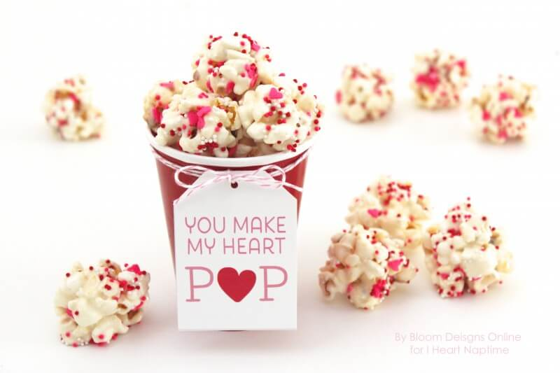 Soft image inside you make my heart pop valentine printable