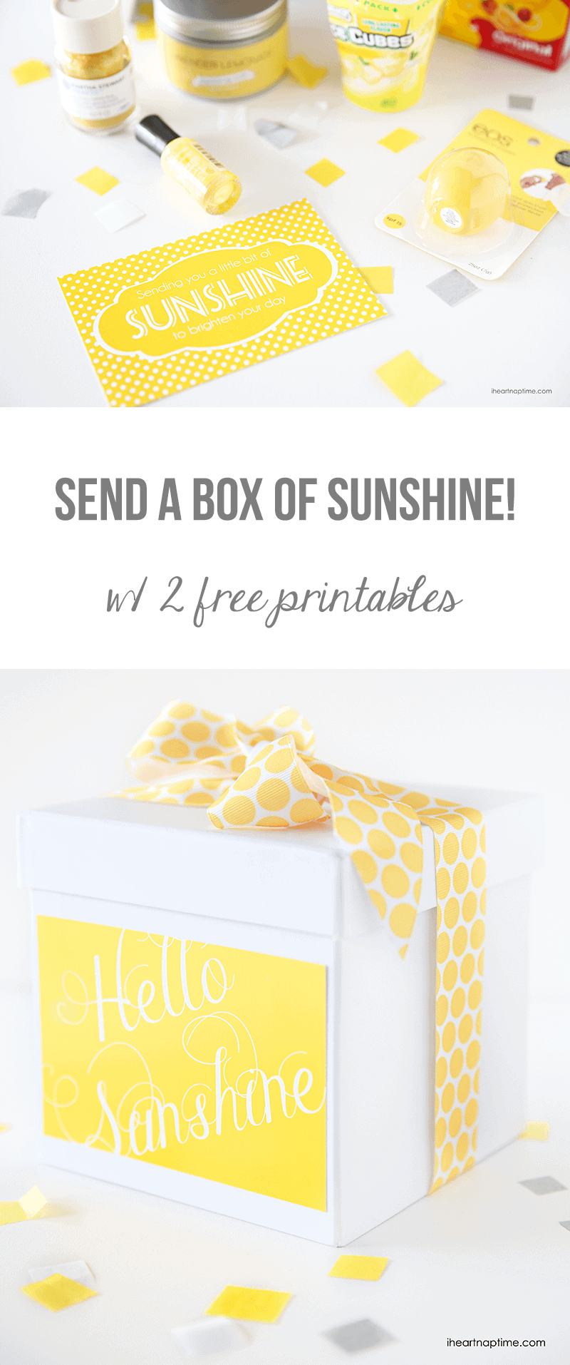 picture about Basket of Sunshine Printable called Ship a box of sun Free of charge printables