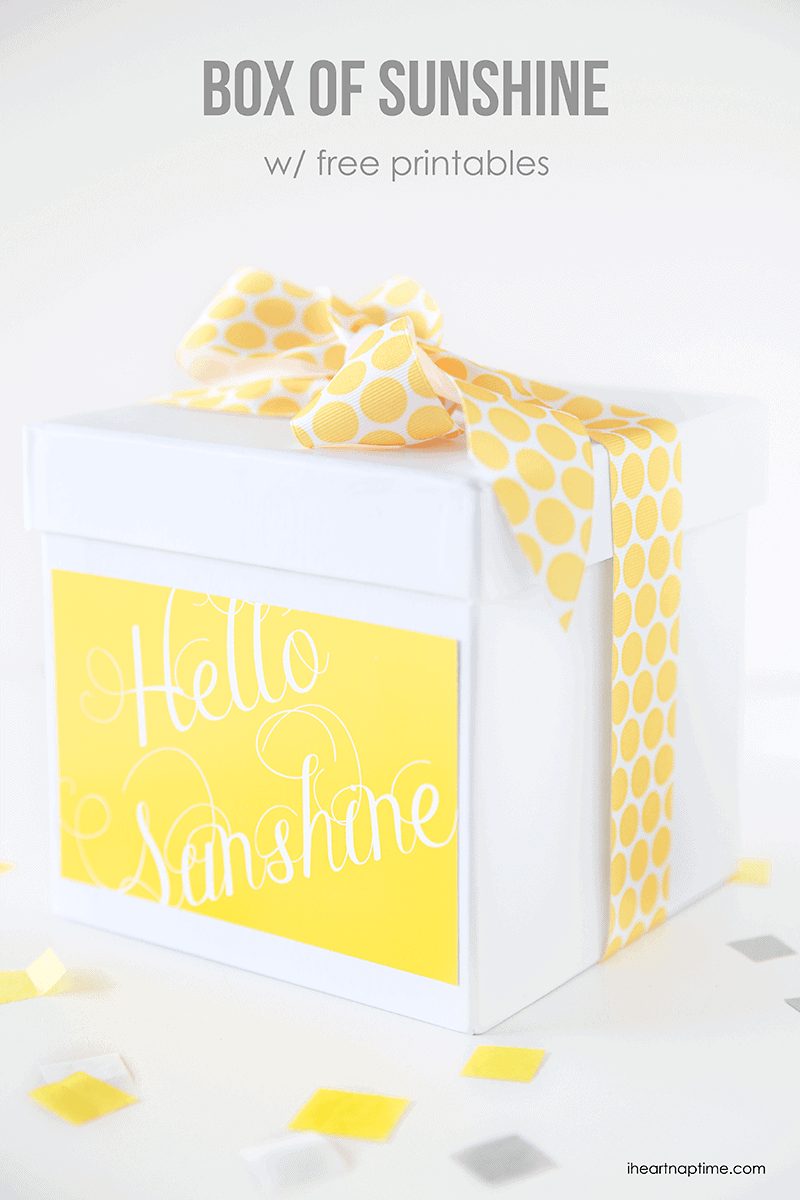 Box of sunshine with free printables